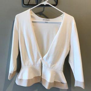 White/nude cardigan